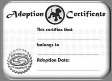 Bentley Adoption Certificate