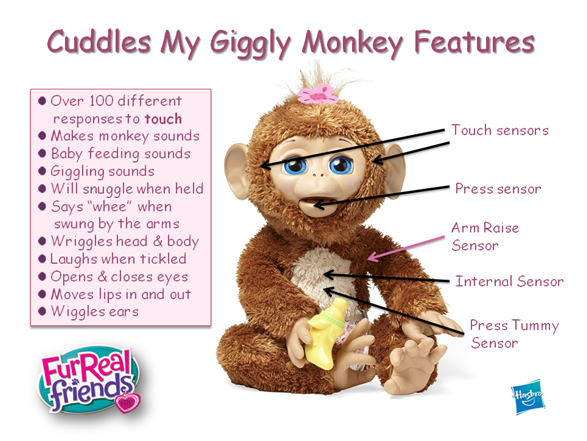 Cuddles My Giggly Monkey Features