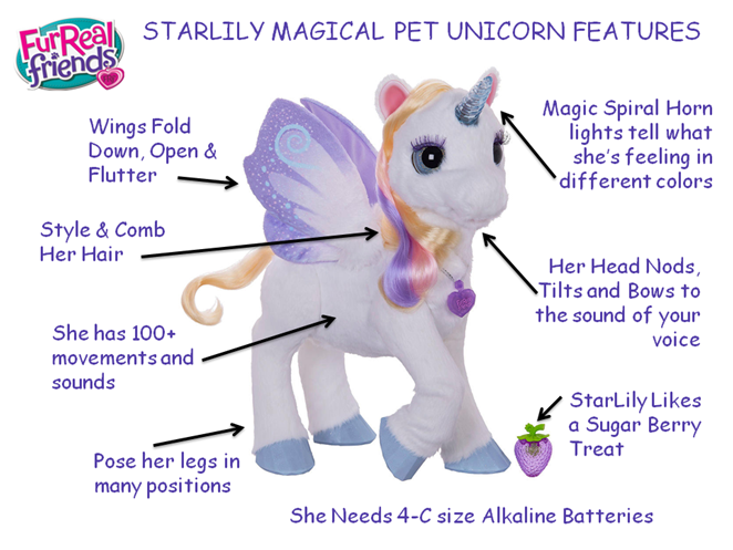 FurReal Friends StarLily Unicorn Features
