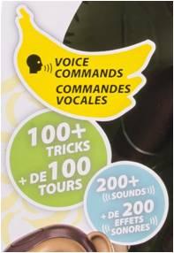 Zoomer Chimp Tricks, Sounds, Voice Commands