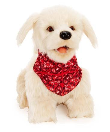 Adorable Georgie White Plush Interactive Robot Puppy Robotic Dog Toys